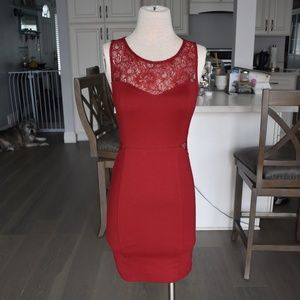 Forever 21 Red Lace Club Dress